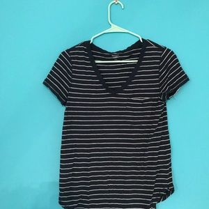 Striped V-neck Abercrombie and Fitch shirt